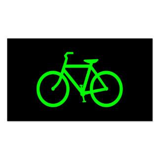 Bici de la verde lima tarjetas de visita