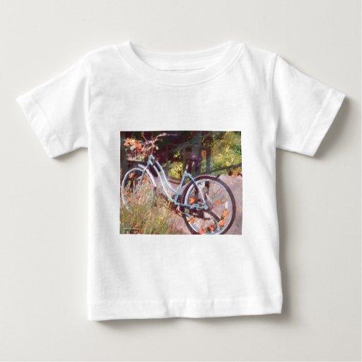Bici de los chicas playera de bebé