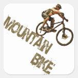 Bici de montaña calcomanía cuadrada
