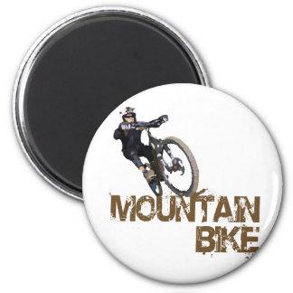 Bici de montaña imán redondo 5 cm