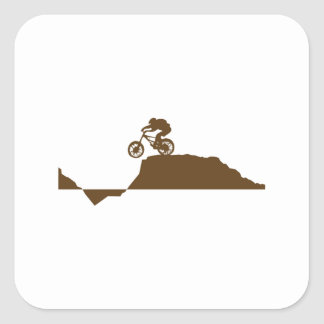 Bici de montaña pegatina cuadrada