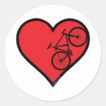 bici de montaña pegatinas redondas