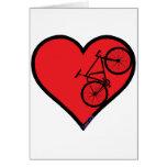 bici de montaña tarjeta