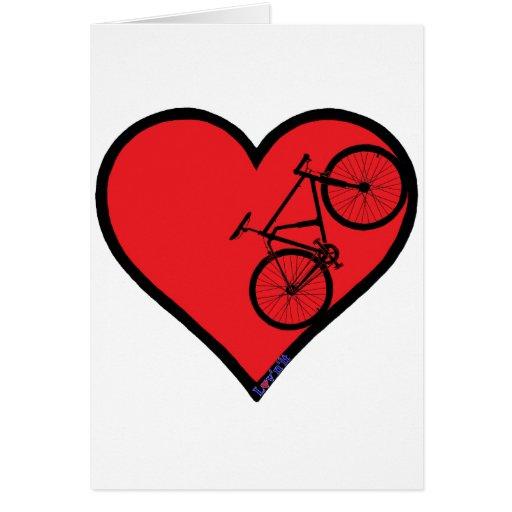 bici de montaña tarjeta de felicitación