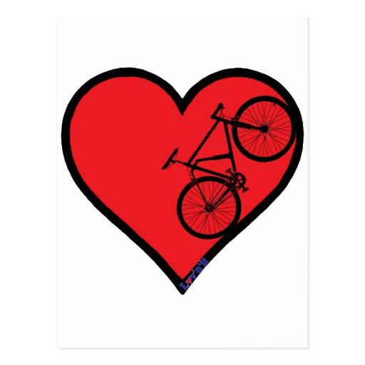 bici de montaña tarjetas postales