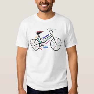 Bici de motivación, bicicleta, completando un camisas
