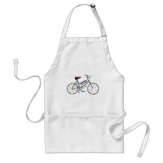 Bici de motivación, bicicleta, completando un cicl delantales