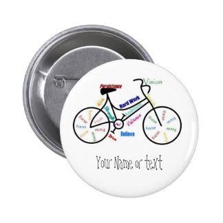 Bici de motivación, bicicleta, completando un cicl pins