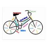Bici de motivación, bicicleta, completando un cicl tarjetas postales