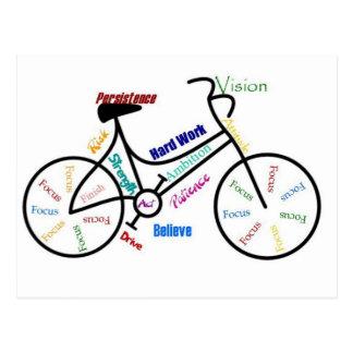 Bici de motivación, bicicleta, completando un cicl postales