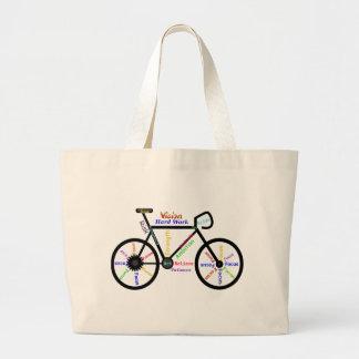 Bici de motivación, ciclo, Biking, palabras del Bolsa Tela Grande