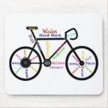 Bici de motivación, ciclo, Biking, palabras del de Tapetes De Ratones