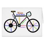 Bici de motivación, ciclo, Biking, palabras del de Tarjeton