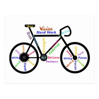 Bici de motivación ciclo Biking palabras del de Postal