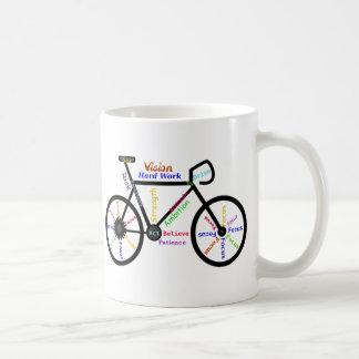 Bici de motivación, ciclo, Biking, palabras del de Taza Básica Blanca