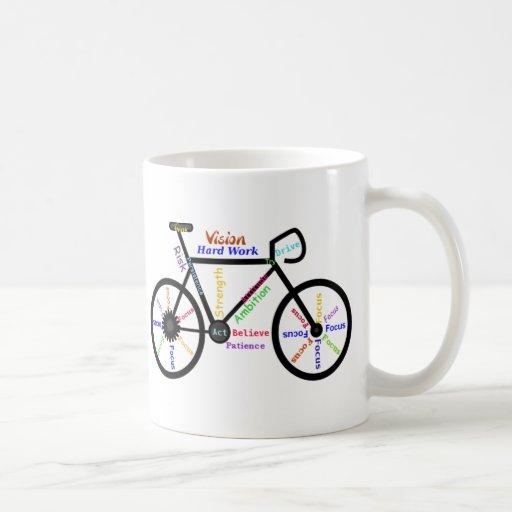 Bici de motivación, ciclo, Biking, palabras del de Tazas