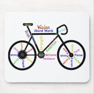 Bici de motivación, ciclo, Biking, palabras del Tapetes De Ratones