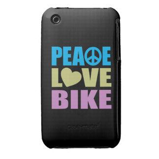 Bici del amor de la paz Case-Mate iPhone 3 funda