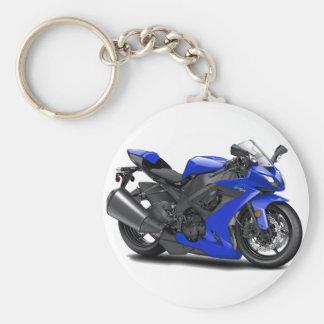 Bici del azul de Ninja Llavero Redondo Tipo Pin