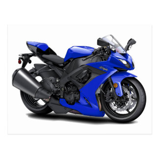 Bici del azul de Ninja Tarjeta Postal
