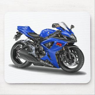 Bici del azul de Suzuki GSX-R600 Tapete De Ratones