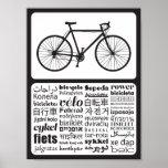 Bici del camino - bicicleta en otros idiomas póster