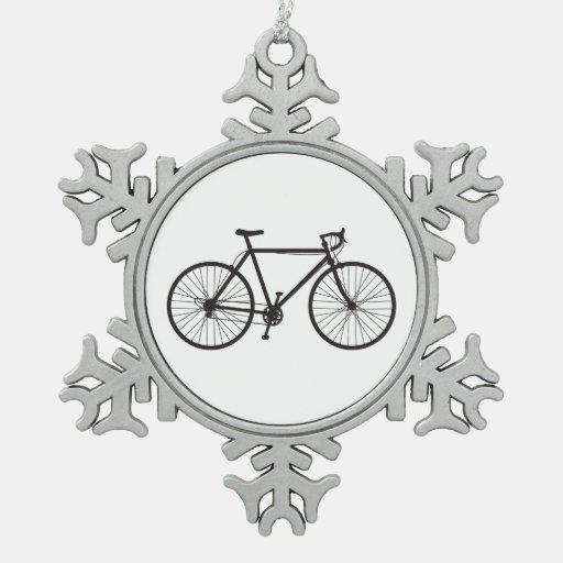 Bici del camino, bicicleta, ornamento del copo de  adornos
