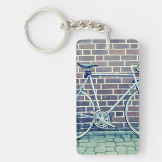 bici del camino llavero rectangular acrílico a una cara