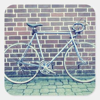 bici del camino pegatina cuadrada