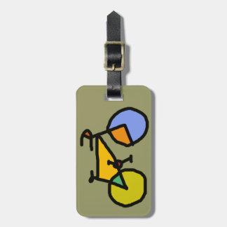 bici del color etiquetas de maletas