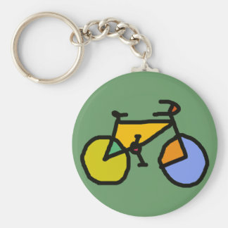 bici del color llavero redondo tipo pin