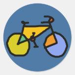 bici del color pegatina