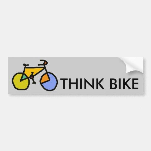 bici del color pegatina para auto