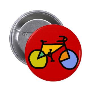 bici del color pin redondo de 2 pulgadas