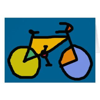 bici del color tarjeta de felicitación