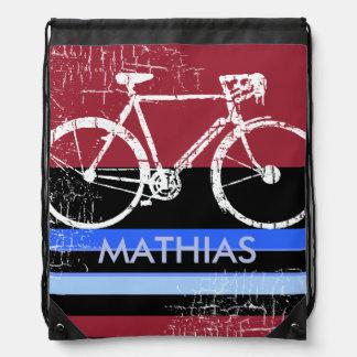 bici del deporte con nombre de encargo mochila
