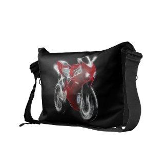 Bici del deporte que compite con la motocicleta bolsa de mensajeria