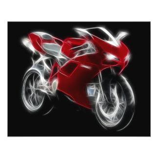 """Bici del deporte que compite con la motocicleta folleto 4.5"""" x 5.6"""""""