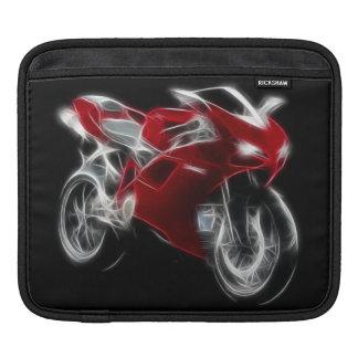 Bici del deporte que compite con la motocicleta funda para iPad