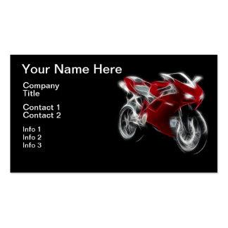 Bici del deporte que compite con la motocicleta tarjetas de visita