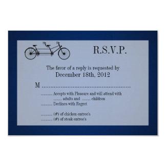 """bici del doble de los azules marinos de la tarjeta invitación 3.5"""" x 5"""""""