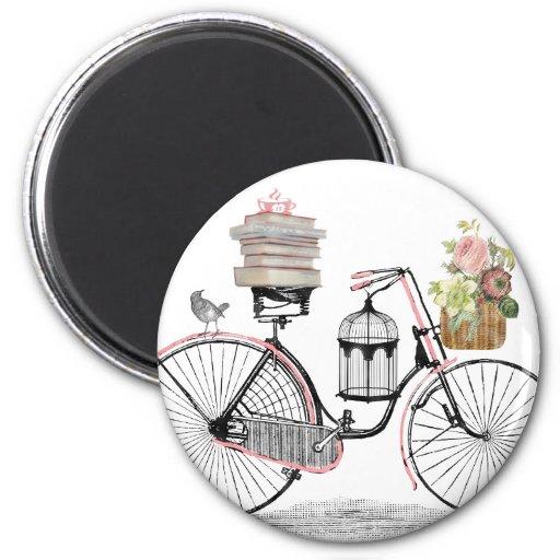 Bici del empuje de la fantasía imán redondo 5 cm