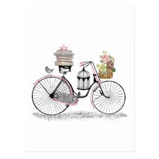 Bici del empuje de la fantasía postales