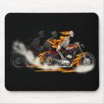 Bici del fuego de la motocicleta de los jinetes de tapete de ratón