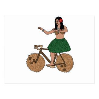 Bici del montar a caballo del bailarín de Hula con Postales