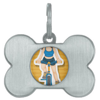 Bici del montar a caballo placas de mascota