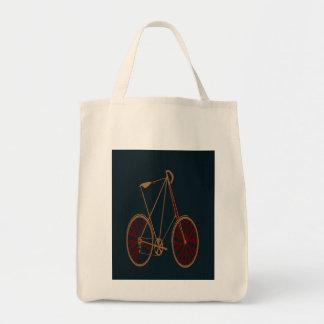 Bici del rojo azul de la escuela vieja de la bicic bolsas