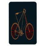 Bici del rojo azul de la escuela vieja de la bicic iman