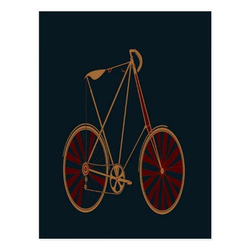 Bici del rojo azul de la escuela vieja de la bicic tarjetas postales