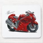 Bici del rojo de Hayabusa Alfombrillas De Raton